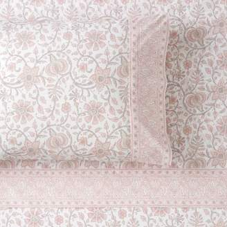 Pottery Barn Teen Anjolie Paisley Pillowcases, Set of 2, Powdered Blush