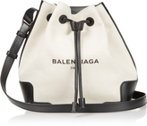 Balenciaga Canvas and leather bucket bag