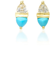 Ila 14K Gold, Turquoise and Sapphire Stud Earrings