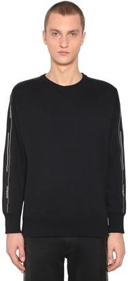 Givenchy Logo Tape Cotton Crewneck Sweatshirt
