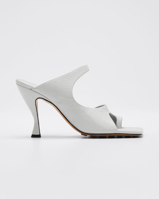 Bottega Veneta Crunch Lux Open-Square Mule Sandals