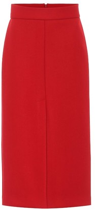 RED Valentino Wool-blend midi skirt
