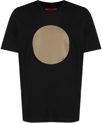 HUGO BOSS large dot-print T-shirt