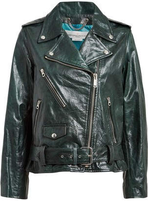 Golden Goose Chiodo Oversized Leather Moto Jacket
