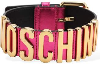 Moschino Logo Leather Choker