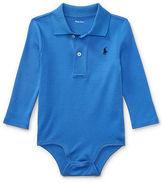Ralph Lauren Boy Cotton Interlock Polo Bodysuit
