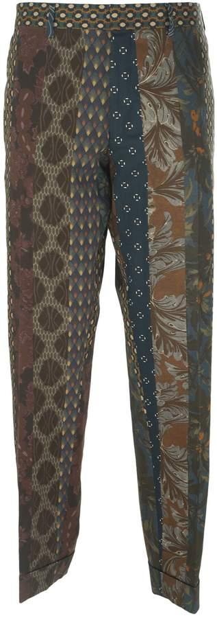 Dries Van Noten Abstract Print Trousers