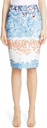 Yigal Azrouel Falling Leaf Print Scuba Skirt