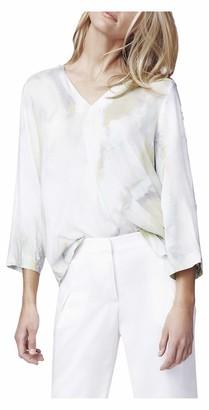 b new york Women's Roll Sleeve V-Neck Top