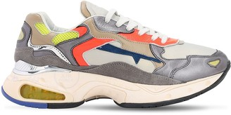 Premiata Sharky Leather & Mesh Sneakers