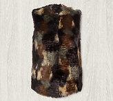 Bernardo Multi Colored Patchwork Faux Fur Vest