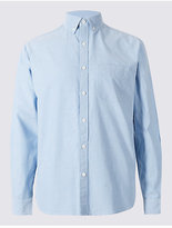 M&S Collection Pure Cotton Plain Oxford Shirt