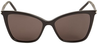 Saint Laurent Sl 384 Thin Acetate Cat-Eye Sunglasses