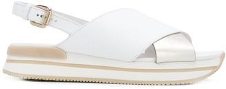 Hogan Colour Block Platform Sandals