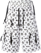 Kokon To Zai monogram shorts - men - Cotton - S