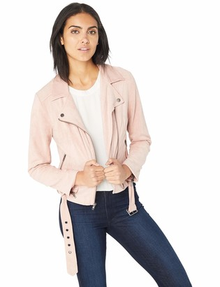 Cupcakes And Cashmere Women's Manele Faux Suede Moto Jacket