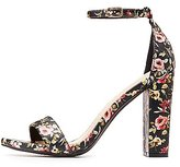 Charlotte Russe Floral Two-Piece Sandals