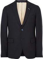 Gant Rugger - Blue Slim-fit Wool-hopsack Suit Jacket