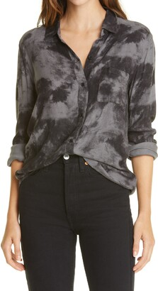 Rails Hunter Tie Dye Button-Up Flannel Shirt