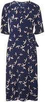Izabel London **Izabel London Navy Vintage Wrap Dress