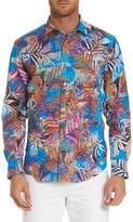 Robert Graham Kingpin Louie Limited Edition Classic Fit Linen Sport Shirt