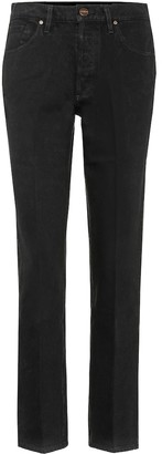 Gold Sign Benefit mid-rise straight jeans