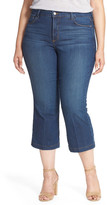 NYDJ &Sophia& Stretch Flare Leg Crop Jeans (Atlanta) (Plus Size)