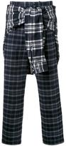 Miharayasuhiro tied sleeve trousers