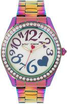 Betsey Johnson Women's Rainbow Oil Slick Stainless Steel Bracelet Watch 44mm BJ00624-01