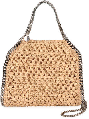 Stella McCartney Mini Woven Raffia Tote Bag