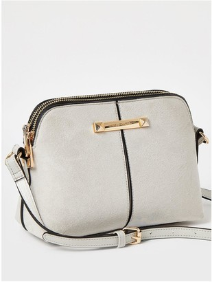 River Island Small Double Compartment Bag - Grey