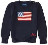 Ralph Lauren Girls' American Flag Sweater - Little Kid