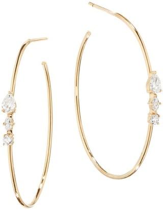 Lana Diamond & 14K Gold Hoop Earrings