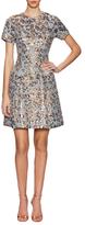 Vince Camuto Cotton Animal Metallic Jacquard Dress