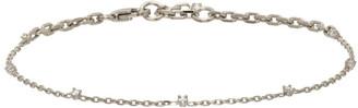 Bottega Veneta Silver Crystal Chain Bracelet