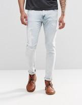 Nudie Jeans Skinny Lin Super Skinny Jeans Pale Temptation Acid Repair