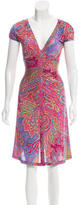 Etro Paisley Print V-Neck Dress