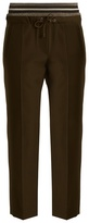 Brunello Cucinelli Layered-waistband wool and cotton-blend trousers