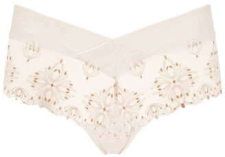 Chantelle Floral Embroidery Briefs
