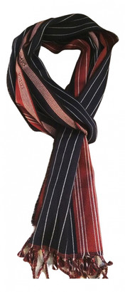 Kenzo Navy Wool Scarves & pocket squares