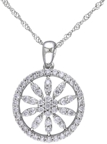 Rina Limor Fine Jewelry 14K White Gold & 0.49 Total Ct. Diamond Large Pendant Necklace