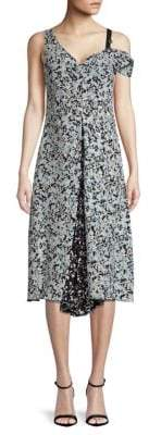 Proenza Schouler Cold-Shoulder Printed Dress