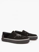 Lanvin Black Spider Motif Slip-On Sneakers