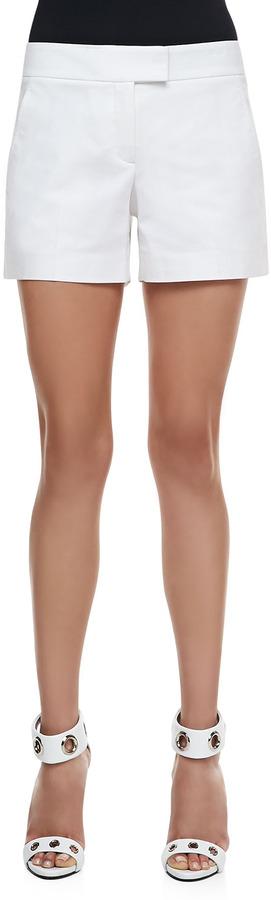 Theory Lynie Checklist Shorts, White