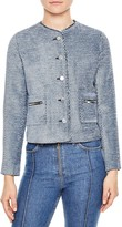 Sandro Annelie Button-Up Jacket