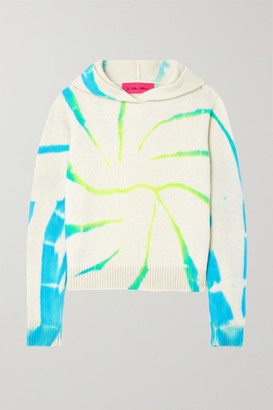 The Elder Statesman Cyclone Tie-dyed Cashmere Hoodie - Ivory
