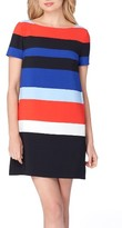 Tahari Petite Women's Stripe Shift Dress