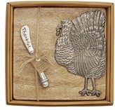 Mud Pie Turkey Cutting Board & Spreader Set