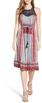 Lucky Brand Women's Crochet Yoke Knit Dress