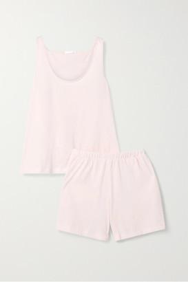 Skin - Pima Cotton-jersey Pajama Set - Pastel pink